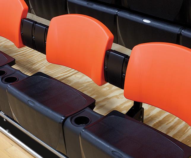 MAXAM telescopic bleacher seats backrest and spacers